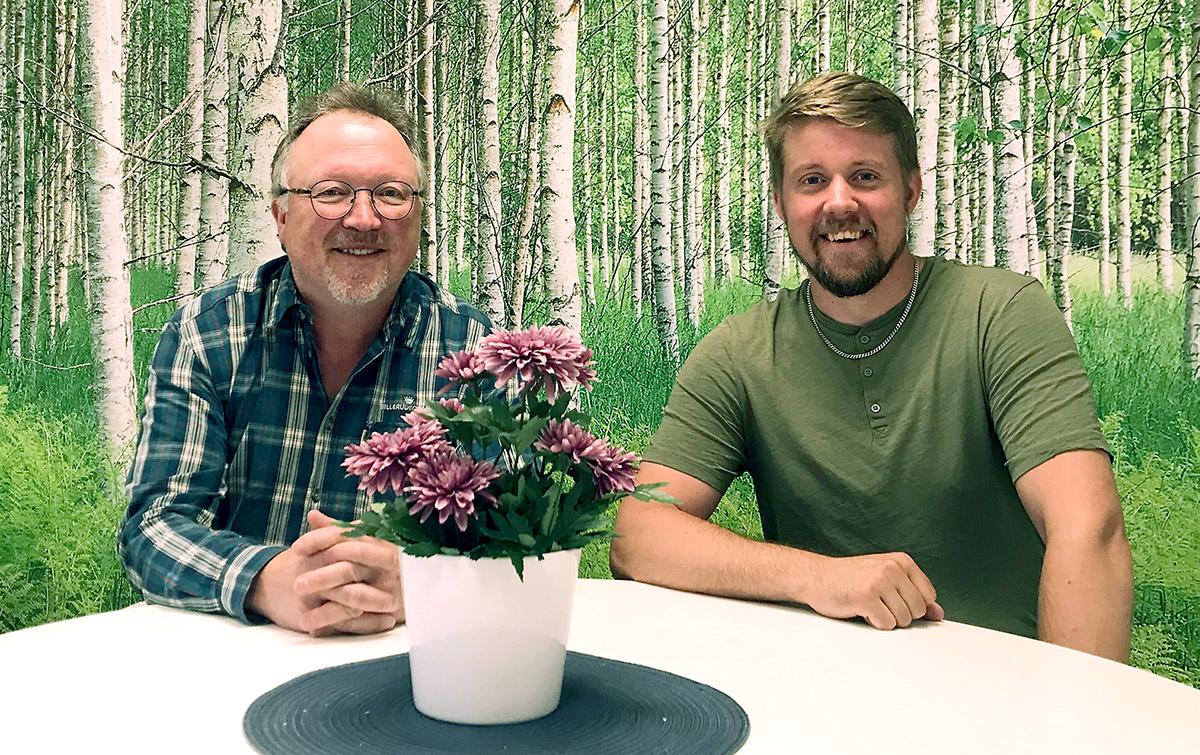 Dan Öhman och Michael Larsson, virkesköpare på BillerudKorsnäs.